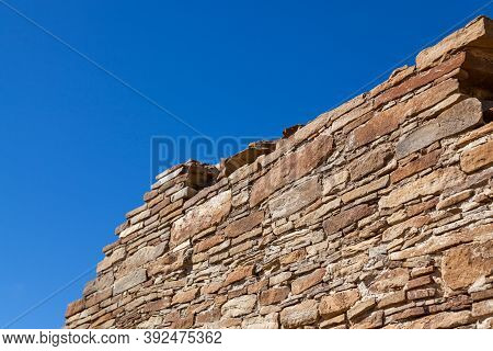 The Upper Piece Of An Ancient Rock Wall Showing The Superior Craftsmanship Of The Anasazi People Aga
