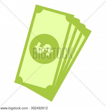 Auction Dollar Cash Icon. Cartoon Of Auction Dollar Cash Vector Icon For Web Design Isolated On Whit