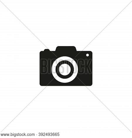 Camera Icon, Flat Photo Vector Isolated. Modern Simple Snapshot Photography Sign. Instant Trendy Sym