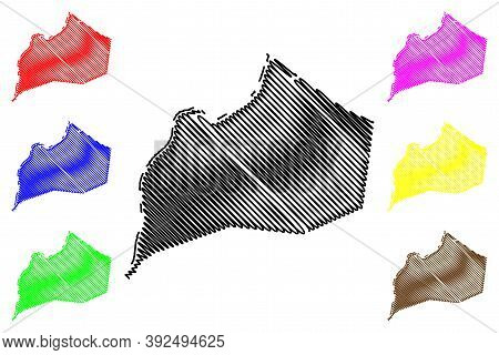 Jefferson County, Kentucky (u.s. County, United States Of America, Usa, U.s., Us) Map Vector Illustr