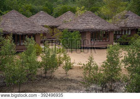 Ranong, Thailand - September 20, 2020 : Blue Sky Resort In Mangrove Forest At Koh Phayam Island, Ran
