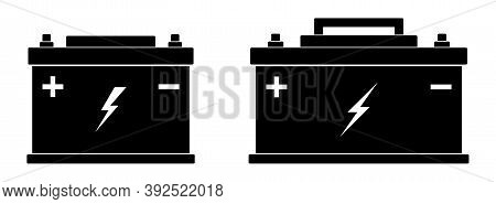 Car Battery Icons. Isolated Car Battery Symbol Flat Icon. Vector Illustration.
