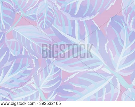 Romantic Botanical Vector Background. Rose Leaves Seamless Pattern. Repeated Spring Peony Wallpaper.