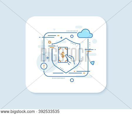 Hold Cash Money Line Icon. Abstract Vector Button. Banking Currency Sign. Dollar Or Usd Symbol. Rece