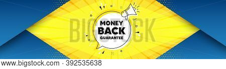 Money Back Guarantee. Background With Offer Speech Bubble. Promo Offer Sign. Advertising Promotion S