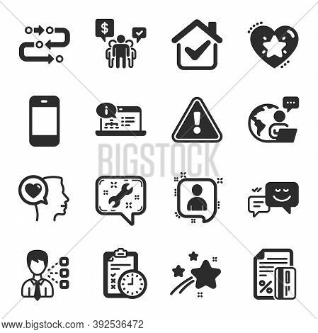 Set Of Technology Icons, Such As Online Documentation, Third Party, Exam Time Symbols. Developers Ch