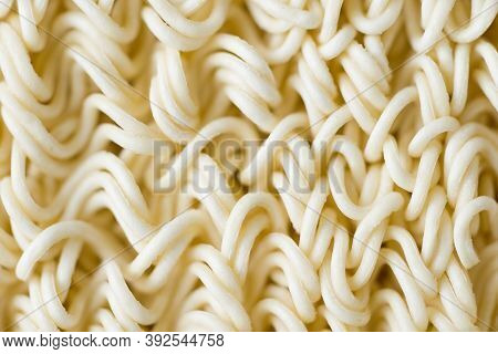 Close Up Of Dried Noodle Food Background