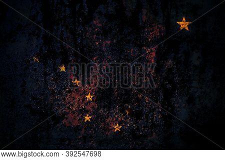 United States Of America, America, Us, Usa, American, Alaska, Alaskan Flag On Grunge Metal Backgroun