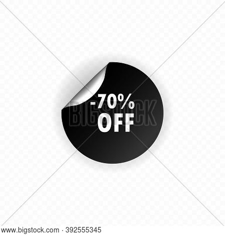 Up To 70 Percent Off Sale. Discount Offer Price Sign. Special Offer Symbol. Save 70 Percent. Circle
