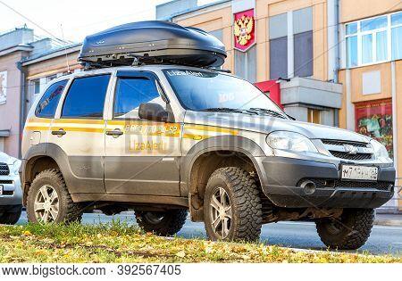 Samara, Russia - October 29, 2020: Vehicle Of Liza Alert Team. Liza Alert Is A Nonprofit Search-and-