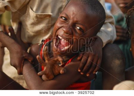 African Boy Screaming