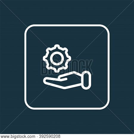 Offer Icon Line Symbol. Premium Quality Isolated Configuration Element In Trendy Style.
