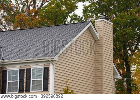 House With A Chimney From The Fireplace Roof Outdoor