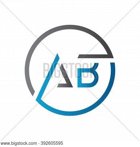 Initial Ab Letter Logo Design Vector Template. Creative Letter Ab Logo Design