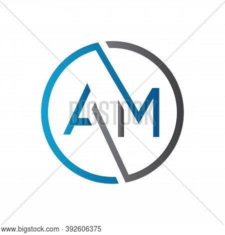 Initial Am Letter Logo Design Vector Template. Creative Letter Am Logo Design