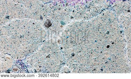 Earth Crash Effect. Horizontal Abstract Effect. Gray Pavement. Black Rusty Texture. Gunmetal Grey Po