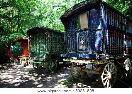 Gypsy Caravan Forest Cart