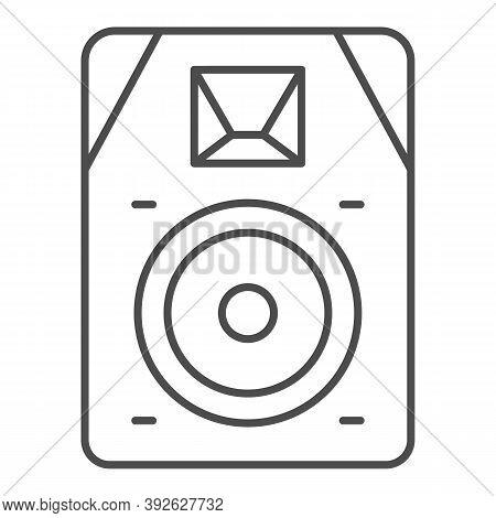 Audio Speaker Thin Line Icon, Sound Design Concept, Sound Loud Speaker Sign On White Background, Sub