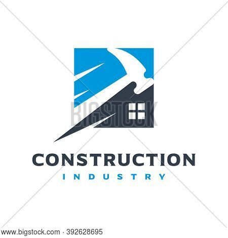 Home And Building Construction Logo Design Or Brand