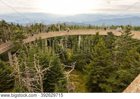 Clingman Dome, North Carolina; Usa; Sept. 23, 2020. A Unique View Point From The Top Of Clingmans Do