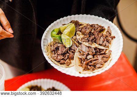 Mexican Tacos Al Pastor In Mexico City