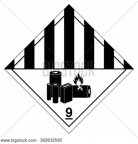 Lithium Batteries Symbol Sign, Vector Illustration, Isolate On White Background Label. Eps10