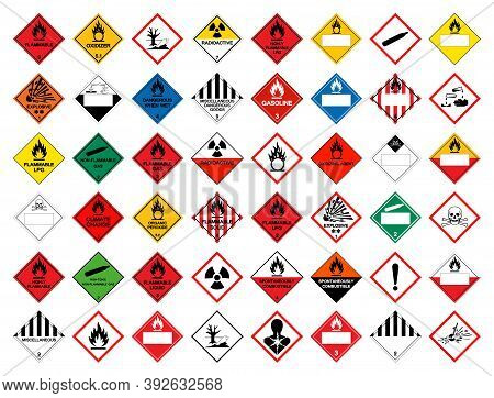 Set Chemical Symbol Sign ,vector Illustration, Isolate On White Background Label .eps10
