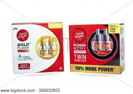 Chennai, India - October 19, 2020: Good Knight Gold Flash Liquid Vapouriser With Good Knight Power A