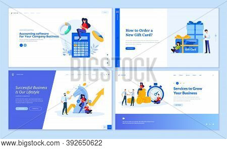 Web Page Design Templates Collection Of Accounting, Finance, Business Success, Strategy, Investment,