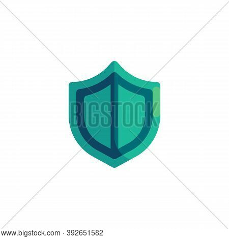 Security Shield Flat Icon, Vector Sign, Protection Shield Colorful Pictogram Isolated On White. Guar