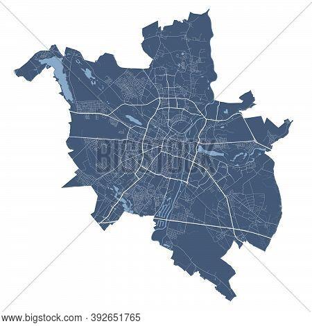 Poznan Map. Detailed Vector Map Of Poznan City Administrative Area. Cityscape Poster Metropolitan Ar