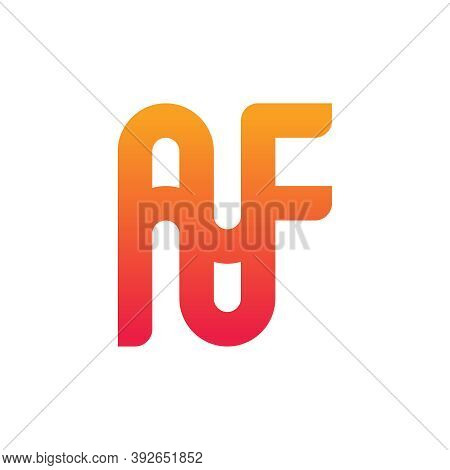 Monogram Logo Design Letter Af Your Company