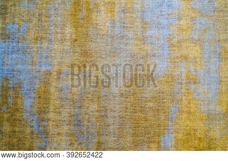 Grunge Old Messy Dirty Surface Background. Rustic Stained Old Vintage Cloth Detail, Dark Brown Messy