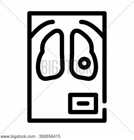 Fluorography Snapshot Line Icon Vector Illustration Sign