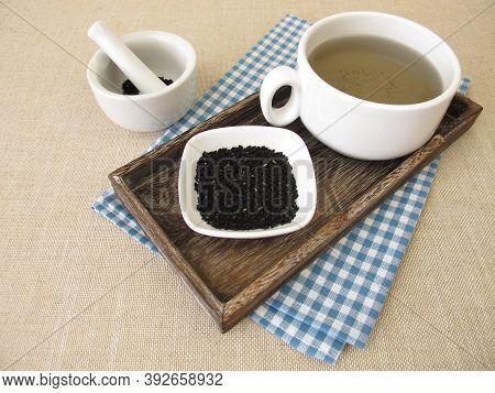 A Cup Of Black Cumin Seeds Tea