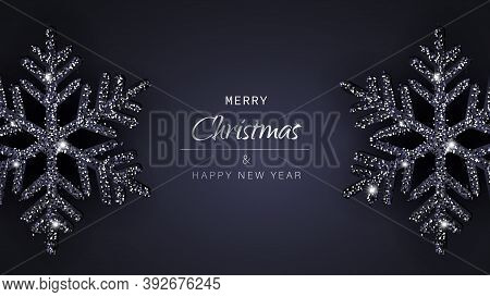 Christmas background. Merry Christmas card with black snowflakes. Merry Christmas card vector Illustration.Christmas. Christmas Vector. Christmas Background. Merry Christmas Vector. Merry Christmas banner. Christmas illustrations