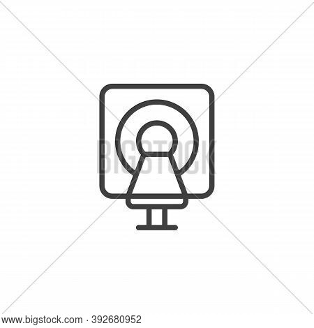 Mri Scanner Line Icon. Linear Style Sign For Mobile Concept And Web Design. Mri Machine Outline Vect