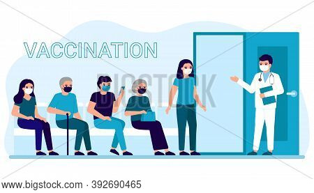 Vaccination Of People In Clinic For Prevention, Immunization And Treatment Against Viral Infection.
