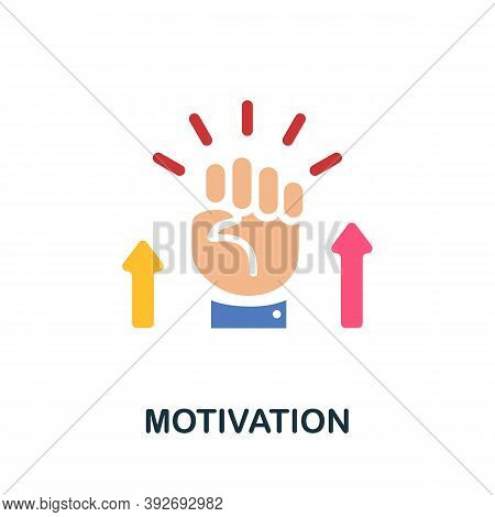 Motivation Icon. Simple Element From Creativity Collection. Creative Motivation Icon For Web Design,
