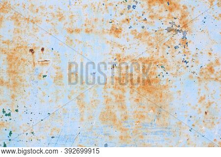 Grunge Background. Old Metal Surface. Scratched Rusty Background Texture.