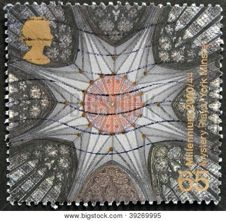 UNITED KINGDOM - CIRCA 2000: A stamp printed in Great Britain shows Chapter House Ceiling York Minst