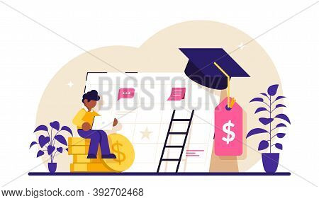 Student Loan Payment Concept. Student Loans, Investment In Knowledge. Education Banking Business. Ec