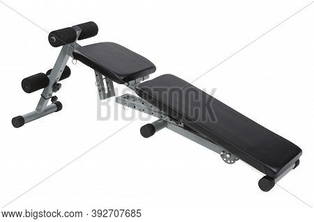 Incline Bench For Fitness Or For Training The Muscles Of The Press, On A White Background