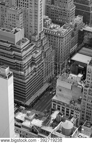 New York City, Usa, September 12, 2017 : New York City And Buildings Of Manhattan From Above. Manhat