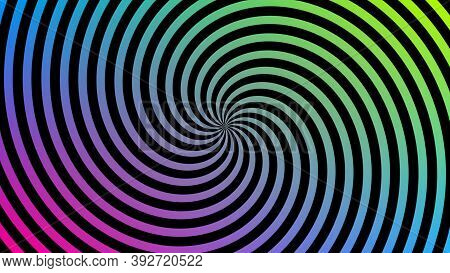 Abstract 3d Dynamic And Spiral Circular Patterns With Colorful Background And Seamless Loop, Abstrac