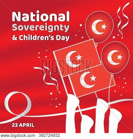 Red Banner National Sovereignty And Children Day Turkey