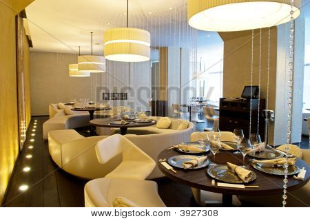 Interior Of Luxury Restaurant