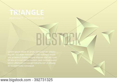Triangular Background. Modern Abstract Background Design Of Triangular Pyramids. Geometric Futuristi