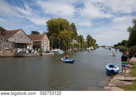 Views Along The River Frome In Wareham, Dorset In The United Kingdom, Taken On The 23rd July 2020
