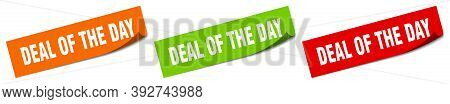 Deal Of The Day Sticker. Deal Of The Day Square Isolated Sign. Deal Of The Day Label